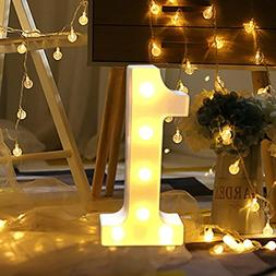 XEDUO 0-9 Numbers LED Light Up White Plastic Digital Standin
