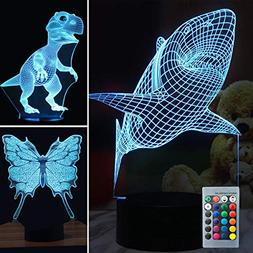 1 3d illusion lamp dinosaur