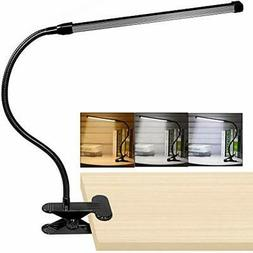 10W LED Clip On Lamp, Desk Light With 3 Modes 2M Cable Dimme