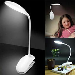 14LED Flexible Reading Light Clip-on Clamp Bed Table Desk La