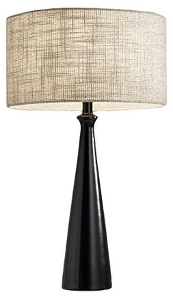 "Adesso 1517-01 Linda 21.5"" Table Lamp, Black, Smart Outlet C"