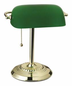 LIVING ACCENTS 17466-012 BANKERS LAMP, BRASS