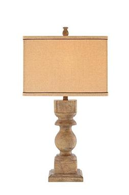 Catalina 19091-000 3-Way Distressed Faux Wood Table Lamp wit