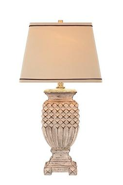 Catalina 19097-001 3-Way 32-Inch Antique White Table Lamp wi