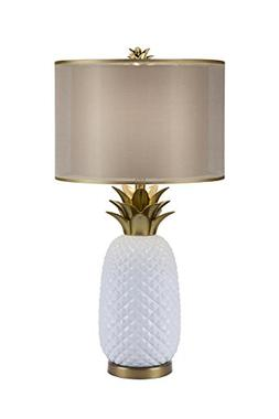 Catalina Lighting 20114-001 3-Way Ceramic Pineapple Table La