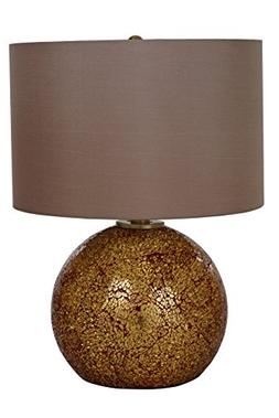 Catalina Lighting 20638-000 Maui Table Lamp with Light Brown