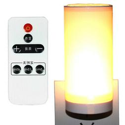 220V Dimmable LED Night Light Wireless Remote Control Lamp D