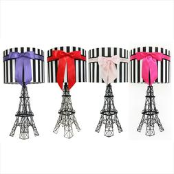 """24.5"""" The Eiffel Tower Table Lamp with Bowknot Shade, Table"""