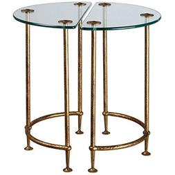 Uttermost 24337 Aralu Glass Side Tables