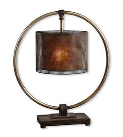 Uttermost 27649-1 Table Lamp 1 Light With Rustic Dark Bronze