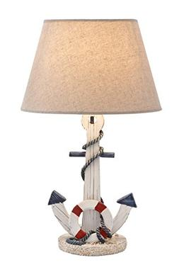 Woodland 28755 Wooden Anchor Table Lamp with an On-Off Switc