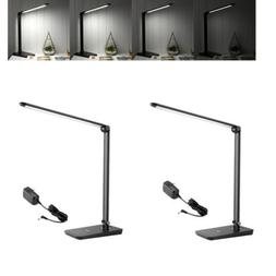 2pcs 8W Dimmable LED Desk Lamp 7-Level Brightness Touch Sens