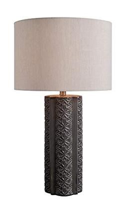 Kenroy Home 33160GRY Table Lamp, Glossy Gray Ceramic Finish