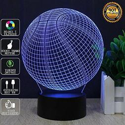 3D Basketball Illusion Lamp, LED Night Light with 7 Color Ch