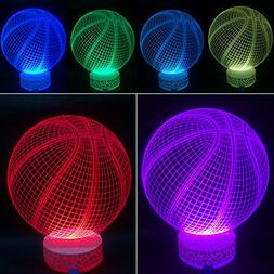3D Illusion LED Night Lamp Basketball with Built-in battery