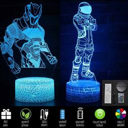 3D Lamp FORTNITE Sign LED Night Light 16 Colors USB Touch Re