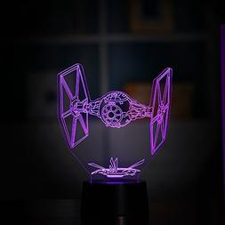 3D Night Lamp Colorful LED Lamp Tie Fighter 7 colours Change