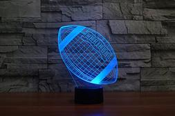 3D Optical Illusion LED Desk Lamp, 7 Color Changing with USB