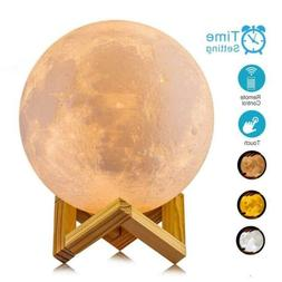 ACED 3D Printing 4.7Inch Moon Light Lamp Baby Night Light, D
