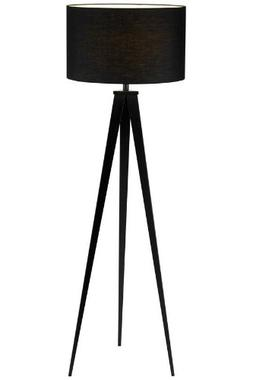 Adesso 6424–01 Director Floor Lamp - Black Tripod Floor La