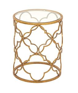 67056 Superb Metal Glass Accent Table