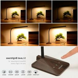 8W Dimmable LED Touch Panel Desk Table Lamp Gooseneck Readin