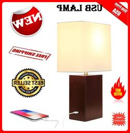Brightech - Mode Contemporary Table Lamp - Genuine Wood Base