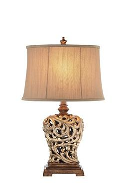Catalina 19085-000, 3-Way Open Scroll Table Lamp with Soft S