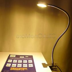 H88 - LED Flexible Clip-on Bed Table Desk Lamp Warm White