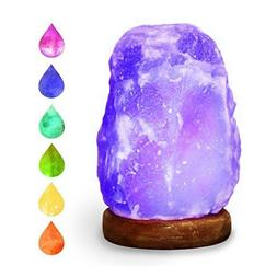 HOCINA Natural Himalayan Rock Salt Mini Lamp Multi Color Cha
