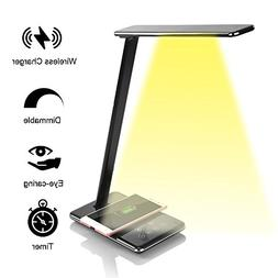 Leapara LED Desk Lamp with Qi Wireless Charger for iPhone X