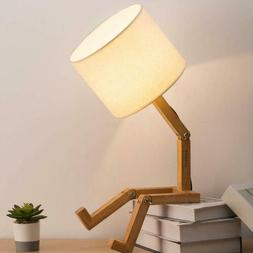 HAITRAL Adjustable Creative Table Lamp With White Fabric Sha
