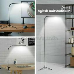 Adjustable LED Floor Lamp Light Dimmable 4 Modes USB Reading