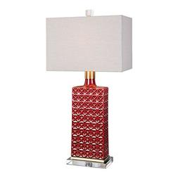 Uttermost 27275-1 Alimos - One Light Table Lamp, Deep Red/An