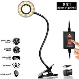Amsuns Timing Dimmable LED Reading Light,Clip on light for d