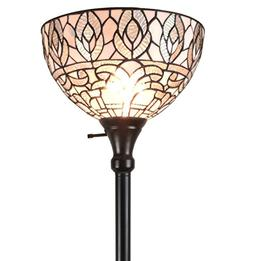 Amora Lighting AM275FL12 Tiffany Style Torchiere Floor Lamp