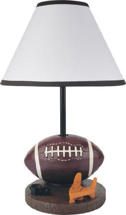 Milton Greens Stars Antique Resin Youth Football Table Lamp,
