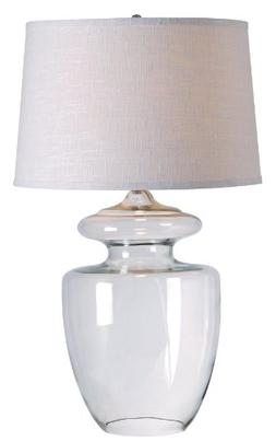 Kenroy Home Apothecary Table Lamp, Clear Glass