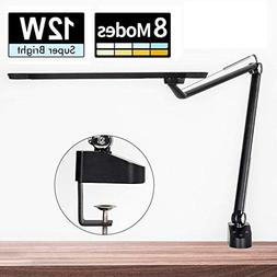 Amico 12W LED Architect Desk Lamp/Clamp Lamp/Metal Swing Arm