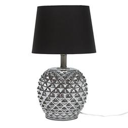 "Globe Electric Armoise 19"" Chrome Table Lamp With Fabric Sha"