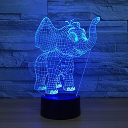 Baby Elephant 3D Night Light Illusion Smart Home Desk Lamp 7