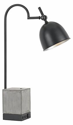 60W Beaumont Metal Desk Lamp with Cement Base 1 Electrical O