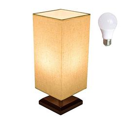 Bedside Table Lamp Bulb Included Solid Wood Table Lamp Bedsi