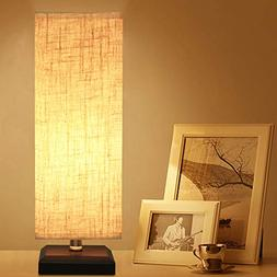 ZEEFO Bedside Table Lamp, Retro Style Solid Wood Table Lamps