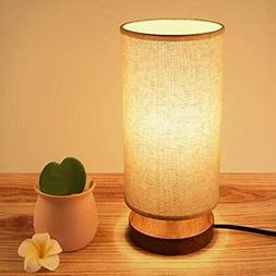 Seealle Bedside Table Lamp, Solid Wood Nightstand Lamp, Beds