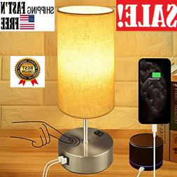 LED Bedside Table lamp & Desk Lamp – Modern Lamp with Dual