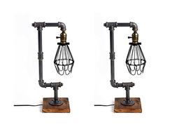 Bird Cage Designer Steampunk Water Piping Desk Top Table Lam