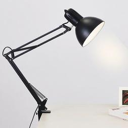 Black Flexible Swing Arm Clamp Mount Lamp Office Studio Home