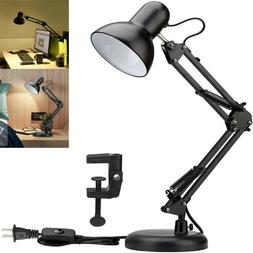 Metal Adjustable Swing Arm Desk Lamp Base Clamp Classic Arch