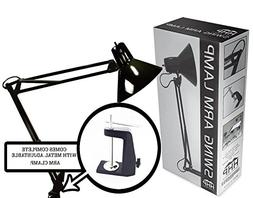 Black Swing Arm Lamp ***With Metal Clamp*** Light Drafting D